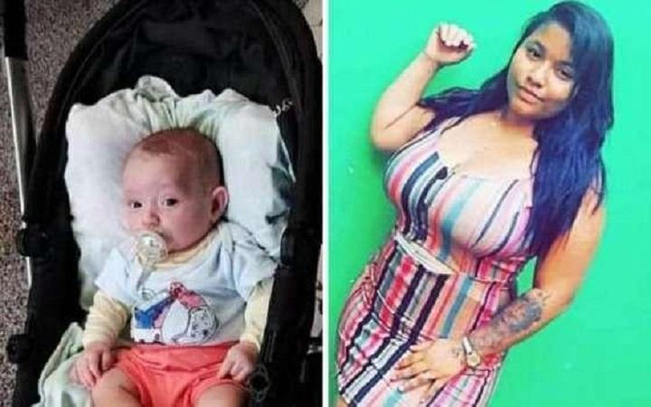 Ramira Gomes da Silva, de 22 anos, matou o filho, Brayan da Silva Otani, de quatro meses de idade (Reprodução)