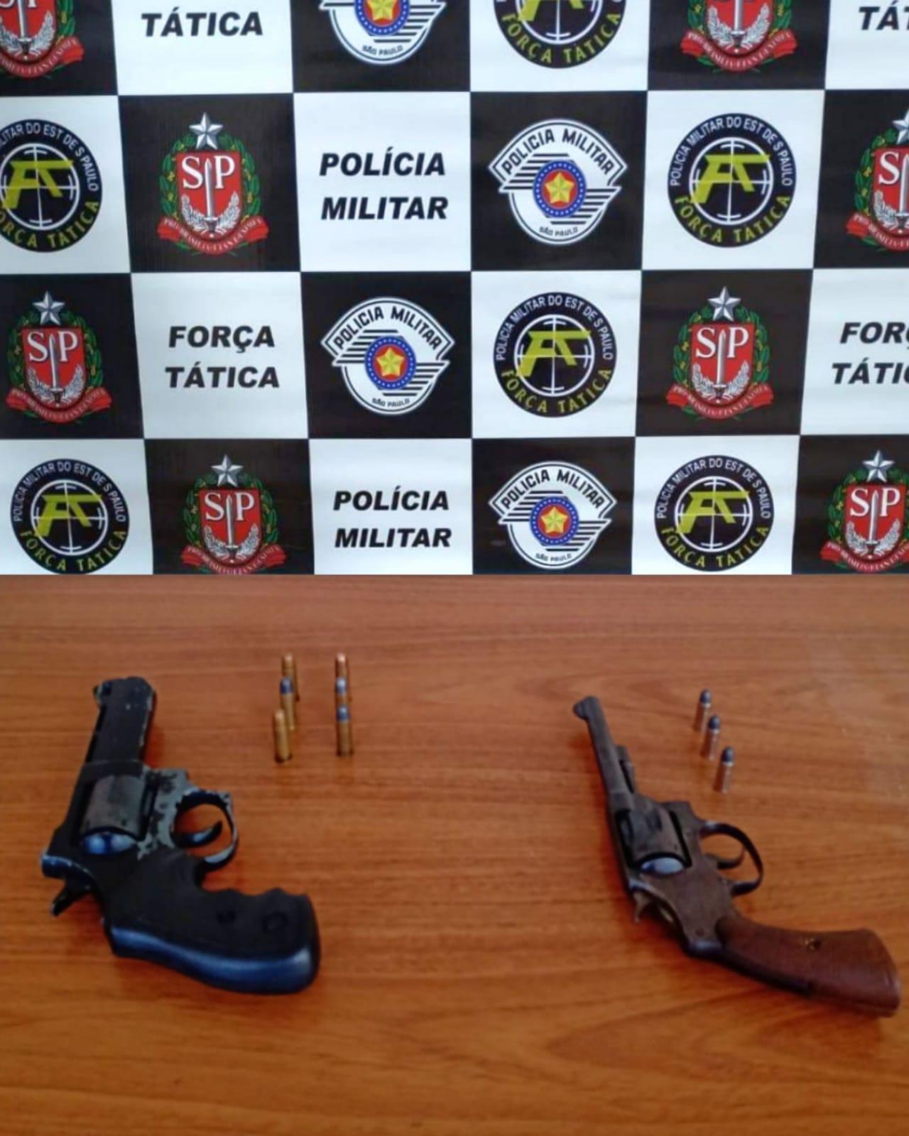 Armas apreendidas em Araçatuba - Divulgação/ Polícia Militar